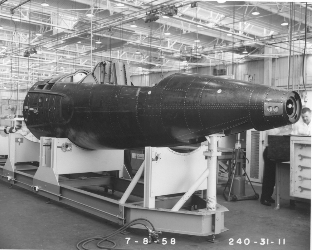 The X-15 under construction. (NASA)