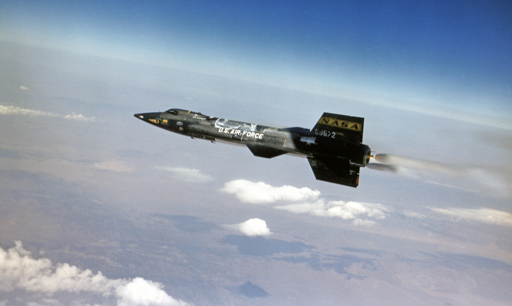 X-15 in Flight. (Air Force)