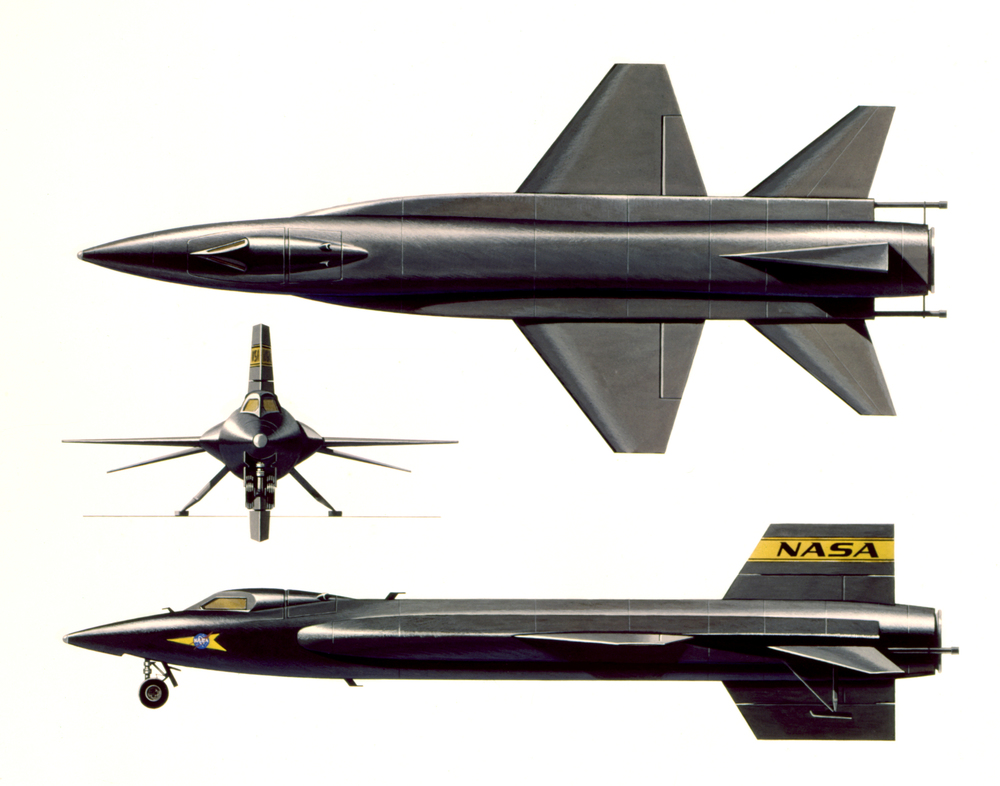 X-15 three way view