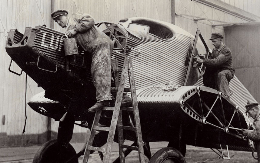 The world's first all-metal passenger aircraft was the Junkers F13