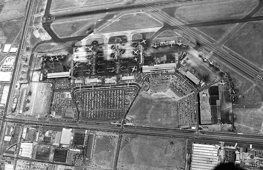 Aerial view of intermediate facilities