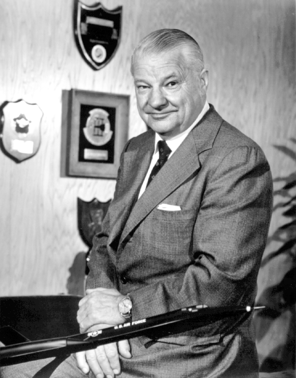Clarence L. Kelly Johnson, the legendary founder of the Lockheed Skunk Works