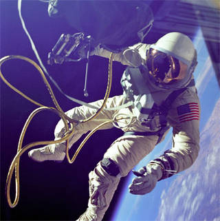 Astronaut Ed White became the first American to conduct a spacewalk on Gemini 4.