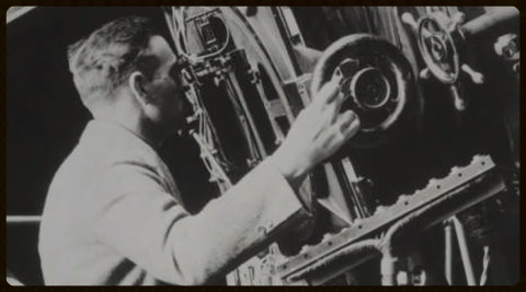 Edwin Hubble and telescope.