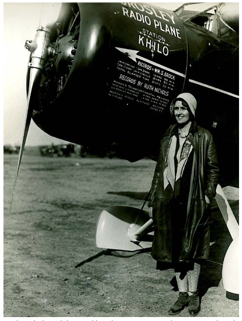 Ruth Rowland Nichols with her Lockheed Model 5a Vega