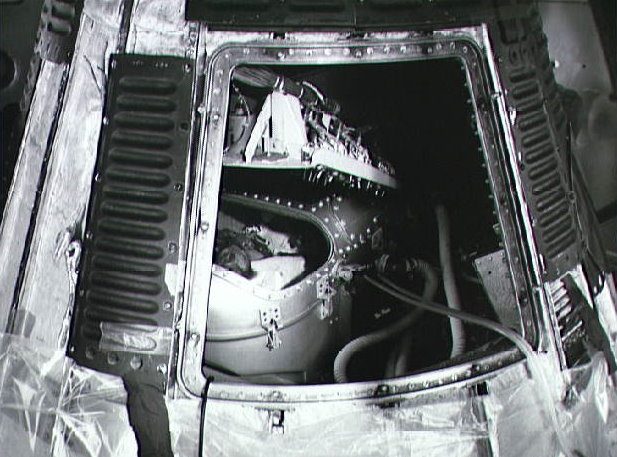 Mercury spacecraft and Chimpanzee Ham