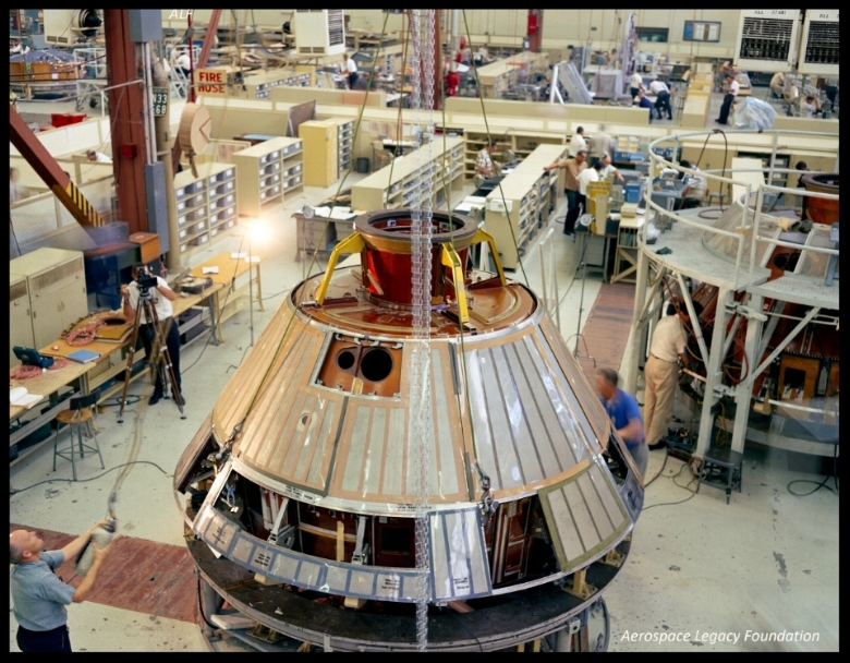 Apollo Command Module fabrication at North American Aviation's Downey plant. Image- ALF Archive