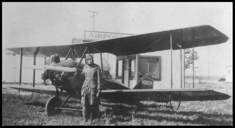 Above-  Neta Snook , early Ames aviatrix, sent this holiday greeting home to her parents at 828 Wilson while she was attending the Curtiss Flying School.