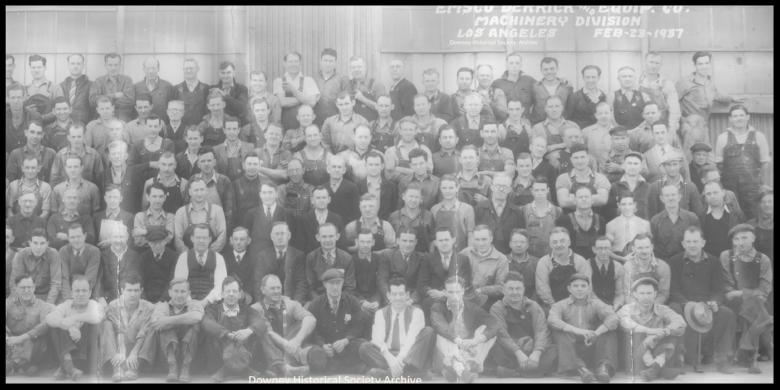 EMSCO Oil Derrick Company. Image- Downey Historical Society.