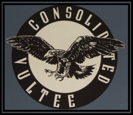 Above- Consolidated Vultee logo. ALF Image
