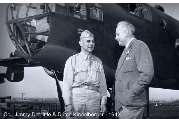 "Doolittle and Dutch ""pioneers in aviation"" 1942"