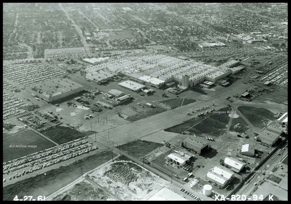 North American Aviation plant in Downey, California. April, 1961.