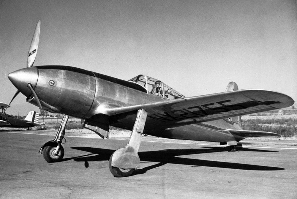 Above- Vultee P-66 Vanguard