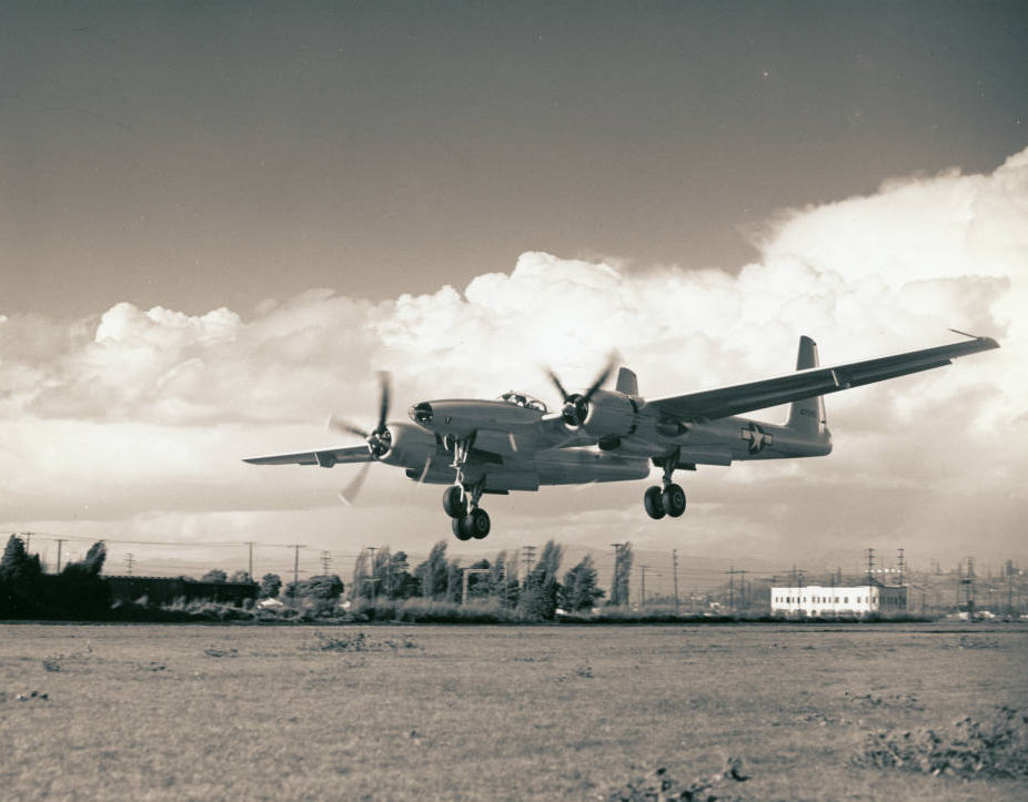 Hughes XF-11 in flight, April 4, 1947