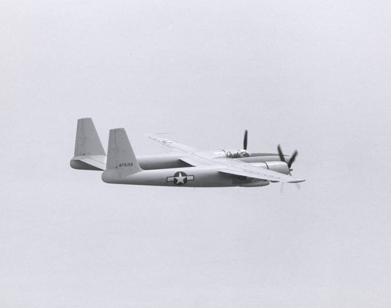Photograph of the second XF-11 plane during a test flight, April 3, 1947
