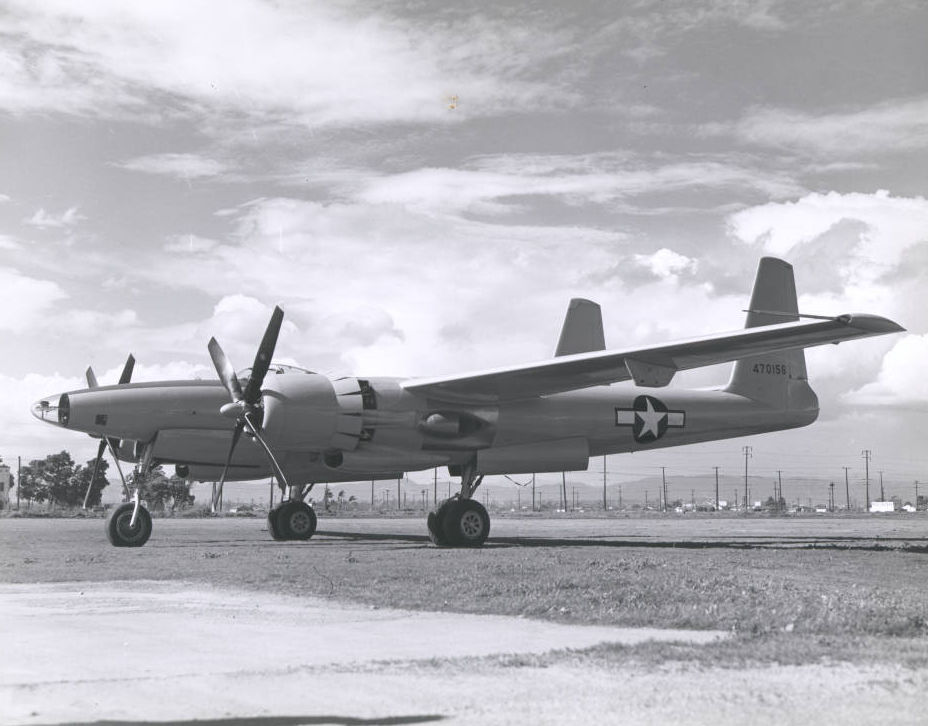 second XF-11 prototype plane on the runway, April 4, 1947