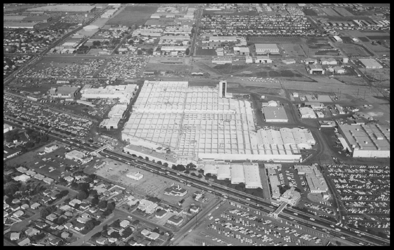 April 27th 1961 aerial view of North American Aviation in Downey.