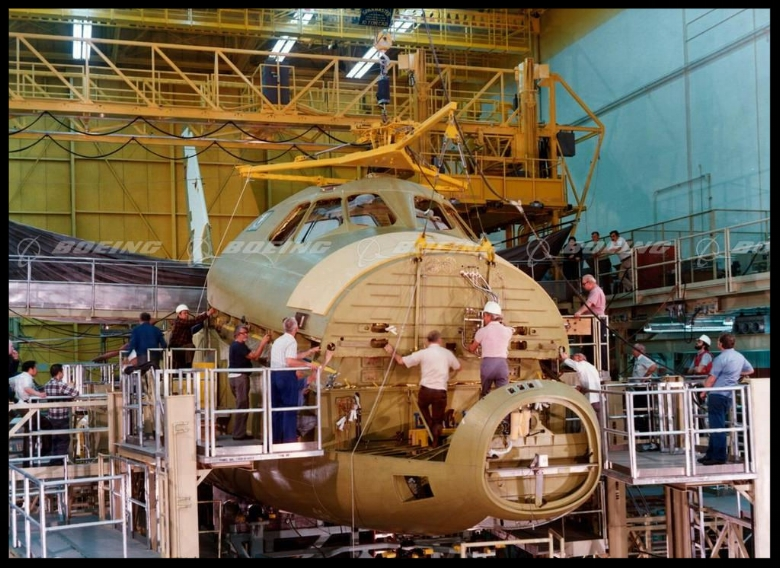 Space Shuttle 101 assembly. Image- Boeing