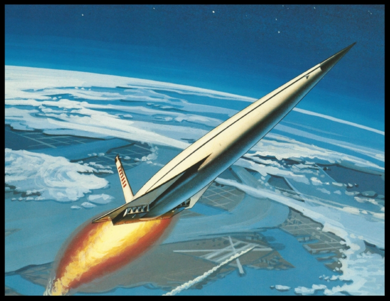 Sleek Space Shuttle concept.  Image- Rockwell/NASA
