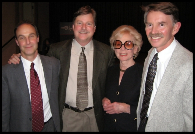 William Winship (Producer/Director/Writer/Editor), Larry Latimer (ALF President/ Webmaster), Joan Kindelberger Graham (Daughter of Dutch Kindelberger) and James Kindelberger Graham (Dutch's grandson). All attending the premier of Pioneers in Aviation- The Race to the Moon at the Seattle Museum of Flight in 2006.