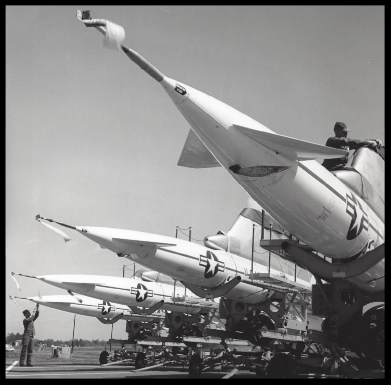Hound Dog Missiles 10-3-63.    More here by Mike Pickett