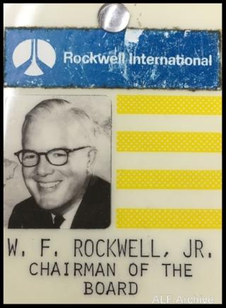 Willard Rockwell's name badge