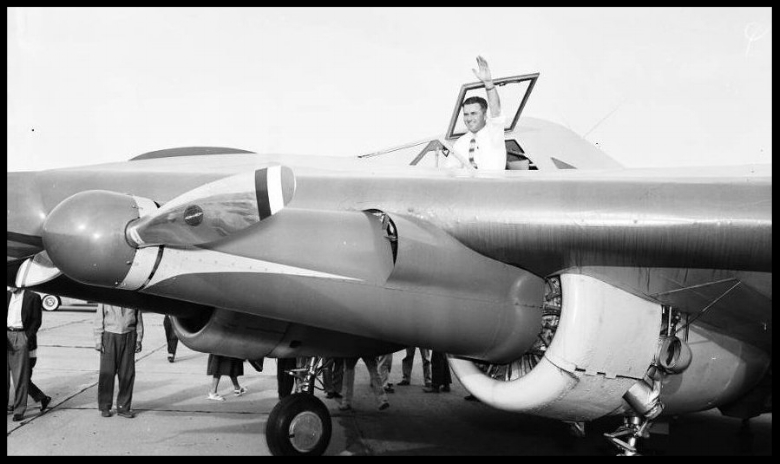 Wingless aircraft ( Horton Wingless Airplane ),  1954 . USC Archive