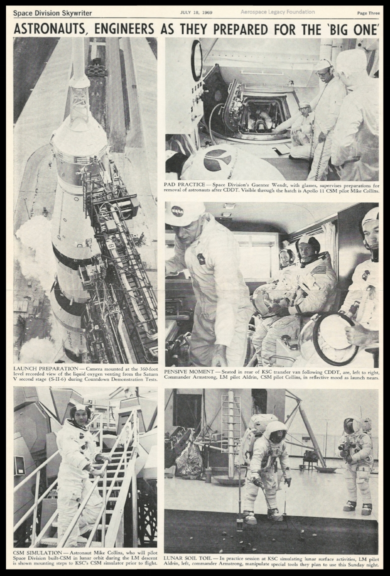 North American Rockwell News Apollo 11. The Space Division Skywriter.
