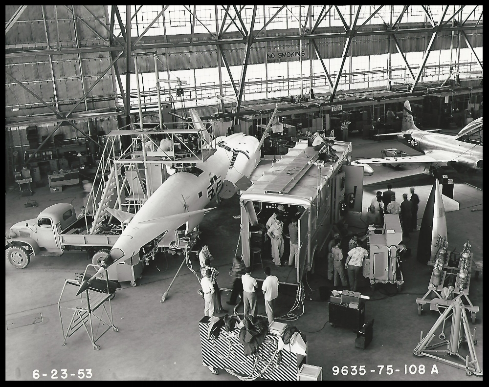 Navaho X-10, 1953. Image Courtesy- Boeing Management Association.  ALF Archive Image.