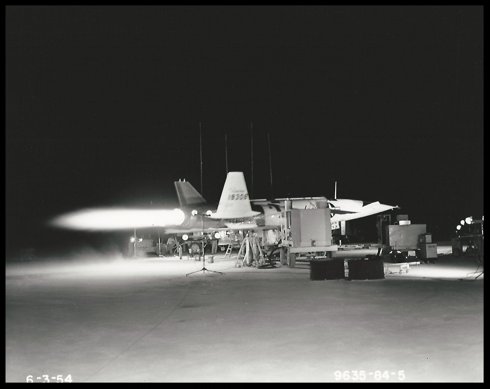 Navaho X-10 test firing. Image- Boeing Management Association.  ALF Archive Image.