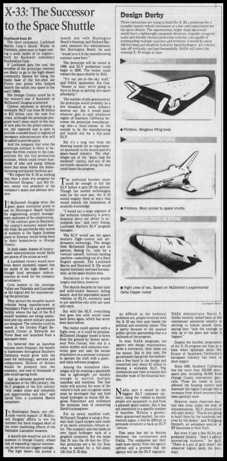 The Los Angeles Times, Tuesday March 19, 1996