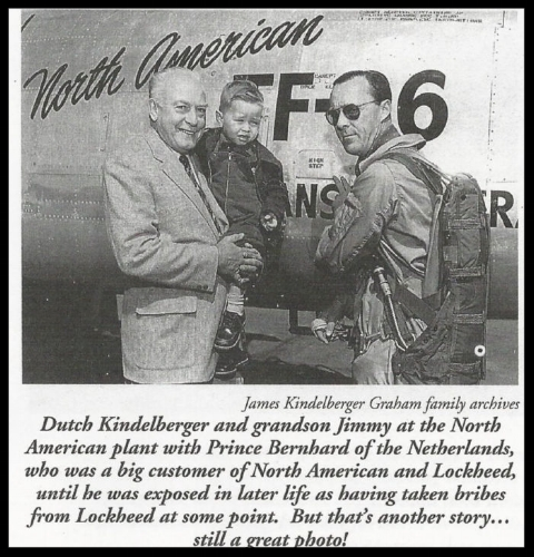 "Dutch Kindelberger with Prince Bernhard and grandson ""Jimmie""."