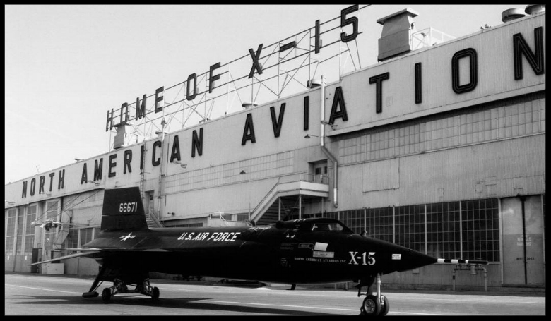 Rollout day for X-15 No. 2 27 Feb. 1959.