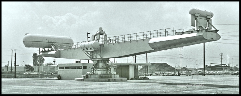 Rotational Test Facility at North American Aviation plant in Downey, CA.  Image- ALF Archive