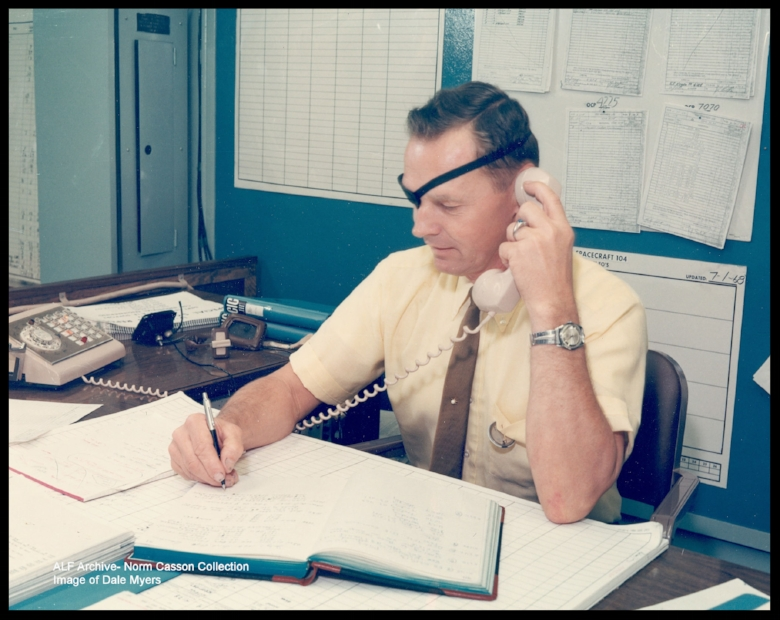 Above- Dale D. Myers- North American Aviation / Rockwell - Program Manager of the Apollo program's Command/ Service Module Program
