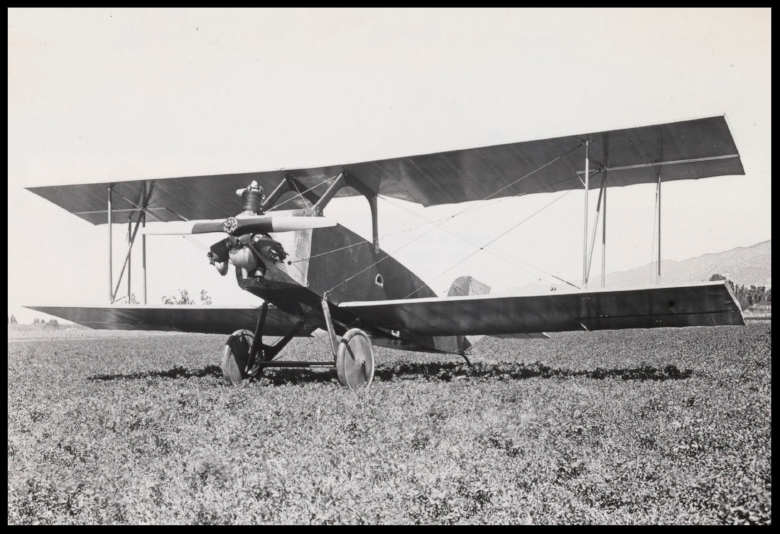 "Above- Amelia Earharts second Airster, the ""crackerbox"" with first Kinner-built engine. 1923"