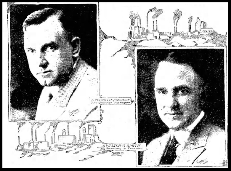 Edward Morris Smith and his brother Walter G. Smith. LA Times, January 1, 1921