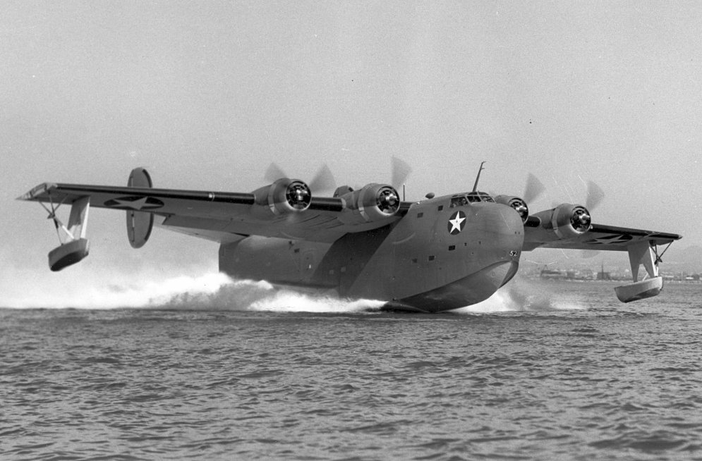 Consolidated PB2Y-4 Taking off from the water.