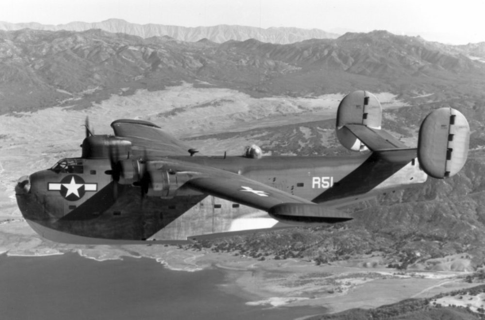 Consolidated PB2Y-5 In-flight
