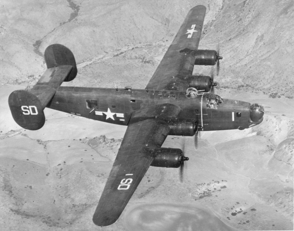 The Navy used the Consolidated PB4Y-1, many of which came from the USAAF B-24 production
