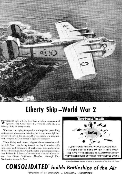 Above- PB2Y advertisement.