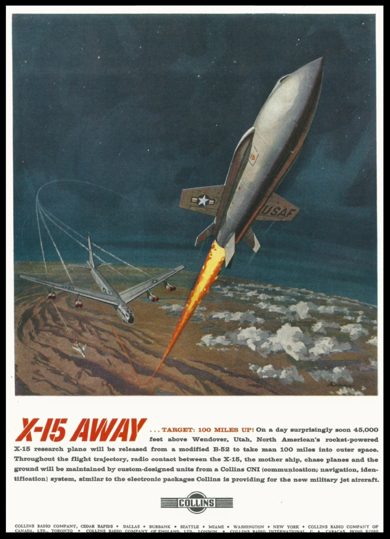 X-15 Away- Poster donated by James Busby