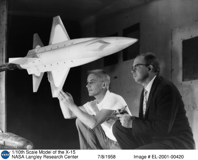 1/10th scale model of the X-15. Image- NASA