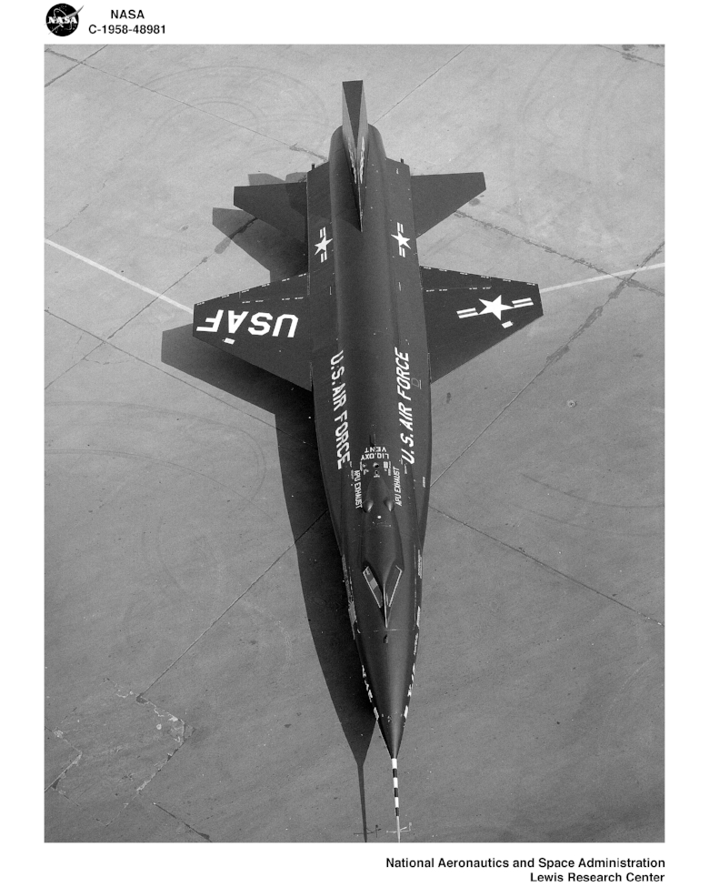 X-15 Experimental plane 1958. by Lewis Research Center- NASA