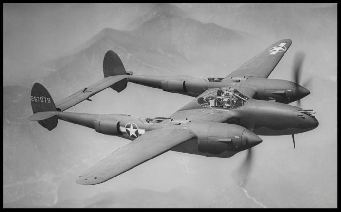 Above- P-38 Lightning. Image- Lockheed