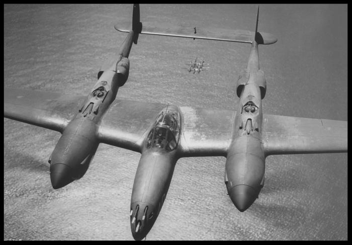 Above-P-38 Lightning. Image- Lockheed