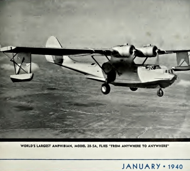 Above- Image of Consolidated Model 28-5A, Consolidated Magazine Jan 1940. Courtesy- SDASM