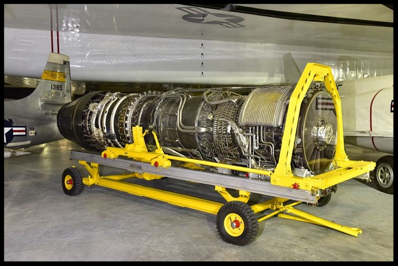 Above- General Electric YJ93-GE-3 turbojet engine. The XB-70 used 6 of these! Image- USAF