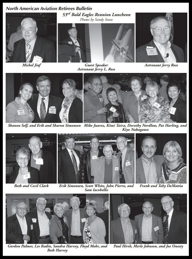 Above- 53rd annual NAA Bald Eagles Reunion.  Summer 2015 Bulletin.  Images- Sandy Snow