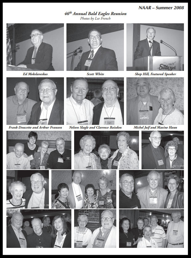Above- 46th Annual NAA Bald Eagles Runion. Image- Lee French.  Summer 2008 Bulletin.